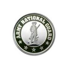 1 oz Silver Rnd - Army National Guard (Enameled, w/Box & Capsule) #48909v2