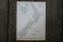 Authentic Vintage 1928 - New Zealand Map #78009v2