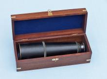 Antique Style Admiral's Nautical Solid Brass Leather Telescope 27