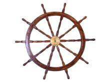 NAUTICAL DELUXE CLASS HAMPTON WOOD AND SOLID BRASS 36