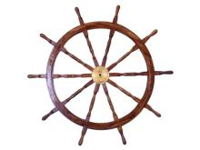 NAUTICAL DELUXE CLASS HAMPTON WOOD AND SOLID BRASS 60