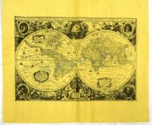 MAP OF THE WORLD REPLICA OF 1651 #27263v2