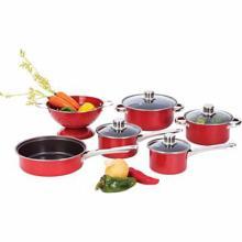 Chef's Secret 10pc Heavy-Gauge Even-Heating Steel Cookware Set #49300v2