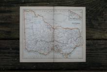 AUTHENTIC VINTAGE1888 - Victoria Map #78086v2