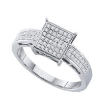 925 Sterling Silver White 0.18CTW DIAMOND MICRO PAVE RING #57955v2