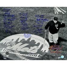 1962 New York Mets Multi-Signed Casey Stengel Ole Professor Black & White On Deck Circle 16x20 Photo w/ Inscriptions (18 Signatures) (MLB Auth) #71947v2