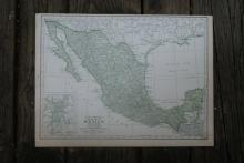Authentic Vintage 1928 - Mexico Map #78008v2