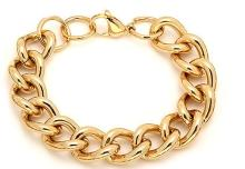 Bracelet Set 18 Karat Gold on Stainless Steel at #88815v2