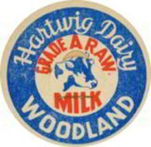 Hartwig Dairy Milk Bottle Cap - Cow Pictured #50170v2