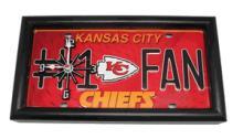 Kansas City Chiefs License Plate Clocks #75827v2