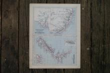 Authentic Vintage 1880 - New Zealand Map #78052v2