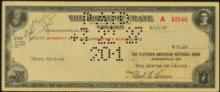 1930s Cancelled House of Crane Cigars Check #35214v2