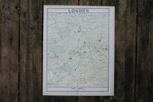 GENUINE AUTHENTIC 1901 MAP OF LONDON #70860v2