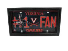 Cavaiers License Plate Clock #71683v2