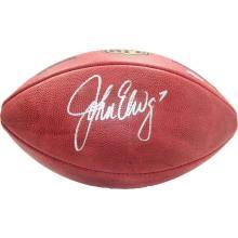 COLLECTIBLE JOHN ELWAY AUTOGRAPHED NFL DUKE FOOTBALL #35542v2