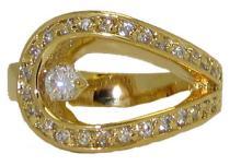 Swirl 18 Karat Ring #90424v2