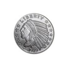 1/4 oz Silver Round - Incuse Indian #27027v2
