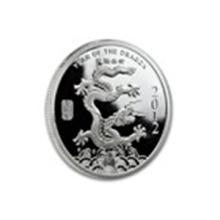 1/2 oz Silver Round - (2012 Year of the Dragon) #27021v2
