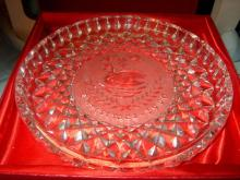 Vintage Waterford Crystal Plate 1990, 12 Days of Christ #36023v2