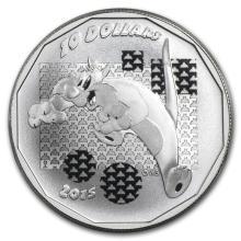 2015 Canada 1/2 oz Silver $10 Looney Tunes Sylvester th #43137v2