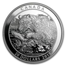 2015 Canada 1 oz Silver Grizzly The Catch #43141v2