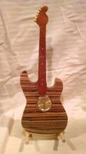 Wood Guitar Clock #36054v2