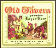 VINTAGE 1960s OLD TAVERN LAGER BEER LABEL #43099v2
