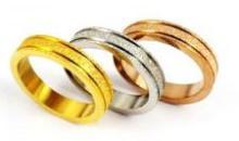 Tri Color Set Three Wedding Bands jewelry #90499v2