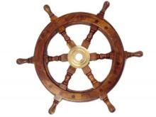 Deluxe Edition Wood and Brass Ship Wheel 12