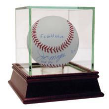 JOE MORGAN CINCINNATI REDS AUTOGRAPHED MLB BASEBALL INS #42494v2
