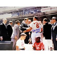 STAN MUSIAL ST. LOUIS CARDINALS AUTOGRAPHED 'WITH JFK'  #42572v2