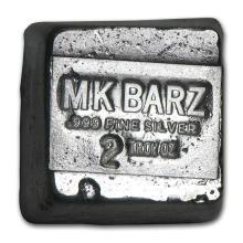2 oz Silver Cube - MK Barz & Bullion #42981v2