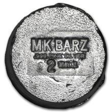 2 oz Silver Button - MK Barz & Bullion #42992v2
