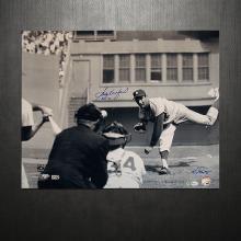 SANDY KOUFAX AND KEN REGAN DUAL AUTOGRAPHED PITCHING HO #42570v2