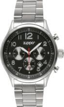 ZIPPO MENS SILVER CHRONOGRAPH WATCH #44356v2