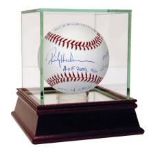 RICKEY HENDERSON AUTOGRAPHED MLB BASEBALL MULTI-INSCRIB #42559v2