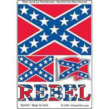 4 PC REBEL DECAL #39759v2