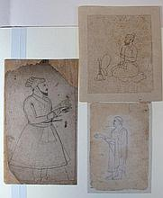 THREE INDIAN DRAWINGS , Northern India, late 18th century
