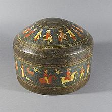 A KASHMIR PAPIER-MACHE BOX , Northern India, circa 1880