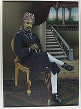 TWO PORTRAITS OF INDIAN RULERS , Northern India, late 19th century