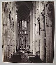 SCHONSCHEIDT  Interior of Cologne Cathedral  One photograph, albumen print, circa 1860, blin