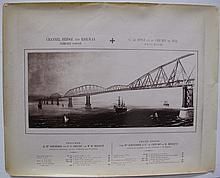 CHANNEL BRIDGE AND RAILWAY COMPANY  two photographs of engineer's design for project of Bridge o
