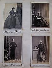 SCRAP ALBUM  Album of 275 photographs, including more than 120 CDV's of famous people of the tim