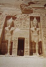 EGYPT  Two albums including 185 coloured photographs of a trip to Egypt, circa 1960  10cm x