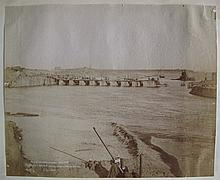 EGYPT  Assiut Nile Reservoir Engineering  Group including: one panorama of four prints; two