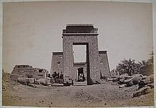 EGYPT  Six photographs, mostly temple, monument views, group of Ulemas, albumen prints, circa 18