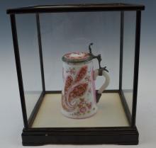 A Bohemian Opaline Glass Tankard