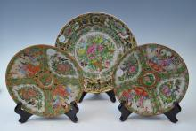 Three Chinese Famillie Rose Export Porcelain Dish
