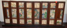 Chinese Painted Porcelain Table Screen