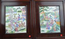 Pair of Chinese Porcelain Paintings